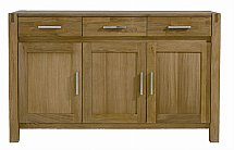 Vale Furnishers - Vale Oak Three Door Sideboard